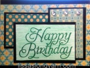 happy birthday layer card